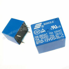 20 x SRD DC12V SL C 10A 250V 125V AC 10A 30V 28V DC 5PIN POWER RELAY SONGLE BLUE