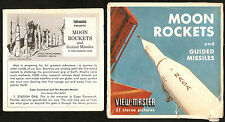 MOON ROCKETS and GUIDED MISSLES ViewMaster SAWYER'S 1959 3 Reel Packet B 656