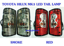 LED TAIL LAMP REAR LIGHT TOYOTA HILUX MK3 SMOKE RED 1989-1997 LN RN 89 90 96 97