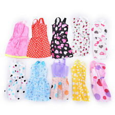 """10pcs fashion robes faites main vêtements pour 11 """"Poupée Barbie Style Aléatoire Couleur FG"""