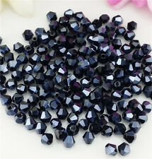 Free Shipping DIY jewelry 100PCS Black 4mm#5301 Bicone Crystal Beads New BH03