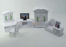 Dollhouse Miniatures furniture Living Bedroom TV Set For Sylvanian Families Doll