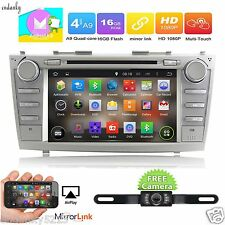 QUAD CORE Android 6.0 Car DVD Stereo Radio Wifi 4G GPS BT For Toyota Camry 07-11