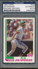 1982 Topps #729 Jim Spencer PSA/DNA Certified Authentic Auto Autograph *5240