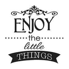 Inspirational STENCIL Enjoy the little things 12x12 for Signs Wood Fabric Canvas