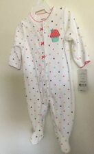 Carters cupcake 3 Months Baby Girls Terry Cloth Snap-Up Sleep & Play  NWT