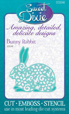 Sweet Dixie Die Bunny Rabbit Cut Emboss Stencil cardmaking easter scrapbooking