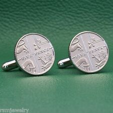 British 5p Coin Cufflinks, Coat of Arms 5 Pence (Small) Great Britain UK England