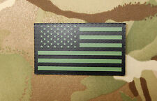 Infrared US Flag Patch IR Army Navy Air Force USN USAF SEAL Green VELCRO® Brand
