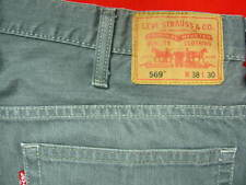 MENS JEANS SIZE 38 X 30 LEVIS STRAUSS JEANS 569 LOOSE STRAIGHT LEG