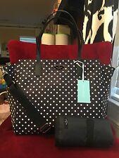 NWT KATE SPADE BLAKE AVENUE NYLON TADEN BABY BAG IN DIAMOND DOT