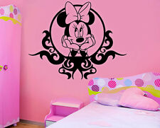 Minnie Mouse mirror Kids Disney Wall Stickers Art room Removable Decals DIY