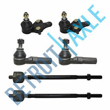 New 6pc Front Suspension Kit Both Lower Ball Joints + Both Inner & Outer Tie Rod