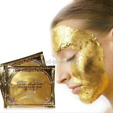 10 PCS 24K Gold Collagen Facial Face Mask Anti-Aging Whitening Hydrating Pack
