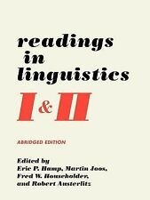 Readings in Linguistics I and II (1995, Paperback, Abridged)
