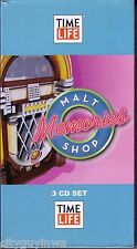 TIME LIFE Malt Shop Memories ONE FINE DAY-TWILIGHT-BLUE MOON Brand New 3 CD Set