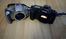Canon EOS Camera Lot (2) 35mm Film Silver Rebel TI Black Rebel PRE OWNED