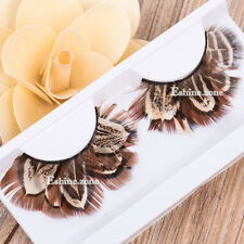 Makeup Feather False Eyelashes Soft Long Fake Eye Lashes Party Stage Cosmetics