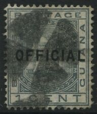 British Guiana 1877 1 cent overprinted OFFICIAL used Scott #O6
