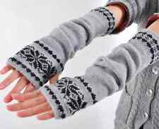 women Arm Hand Warmer Mitten Long Fingerless Snowflake Winter Gloves fashion