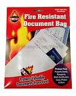 Fire Resistant Safe Document Protection Bag 1000 degree Legal Size 10