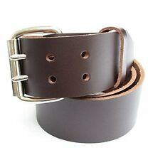"Mens Heavy Duty Leather Belt 2"" Wide Sizes 32 - 72"