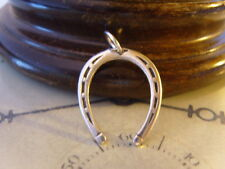 VINTAGE STERLING SILVER POCKET WATCH CHAIN LARGE HORSESHOE FOB/PENDANT. C~1930's