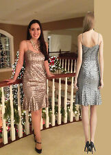 Banana Republic Silver Lwren Scott Collection Sequin Wiggle Dress sz4 S UK8 £130