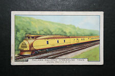Union Pacific Railroad  Streamlined Diesel Pulman   1930's Vintage Card # VGC