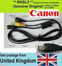 Genuine Canon AV cable AVC-DC400 PowerShot A1400 A1100 G11 S90 SX110 SX120 SX200