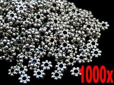 1000 Pcs Tibetan Silver 4mm Daisy Spacer Beads Bead Jewellery Findings G144