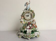Lovely dresden sitzendorf beautiful old clock figurine figure porcelain