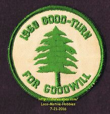 LMH Patch Badge 1969 GOODWILL GOOD TURN Day BSA Program Drive Tree Scouts Rotary