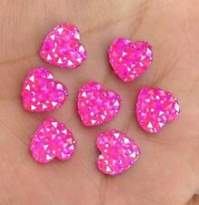 DIY 40PCS Rose AB Resin Heart flatback Scrapbooking for phone/wedding/craft 2B