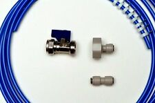 American Fridge Freezer Plumbing  Kit 4M Pipe + Valve + Adaptor + Pipe Connector