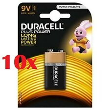 Confezione 10 Pile Batterie Duracell Plus Power 9V 6LP3146 MN1604 hsb