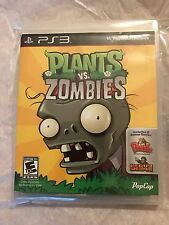 Plants vs. Zombies PS3 Game Sony PlayStation 3, 2011 w/ Case Instruction Manual