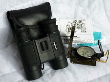 Brunton ECHO 10x25 Waterproof Binocular And Vivitar Military Style Compass
