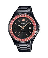 Casio LX-500H-1E Black Pink Casio Ladies Watch Resin Band 50M Analog Date NEW