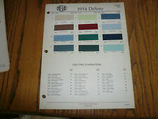 1954 DeSoto ZAC-LAC Paints Color Chip Paint Sample - Vintage