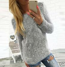 Womens Casual Long Sleeve Pullover Sweaters Jumper Shirt Loose Blouse Tops