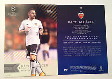 2016 Topps UEFA Champions League 5x7 GOLD (#/10 Made) PACO ALCACER Valencia CF