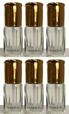 6 X EMPTY ATTAR PERFUME BOTTLES 3ML  CLEAR BOTTLES WITH STICKS