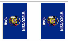 WISCONSIN U.S. STATE BUNTING 9 metres 30 flags Polyester flag