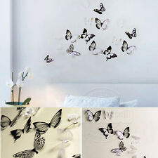 UK Stock 18PCS 3D PVC Butterfly Wall Decal Room Window Glass Stickers Home Decor