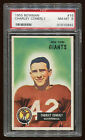 1955 Bowman #016 Charley Conerly PSA 8 NM-MT Cert #01015892