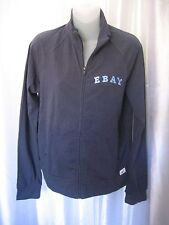 The Ebay Shop Junior Size Blue EBAY Front Zipper Jacket Sz L NWNT 95% Cotton