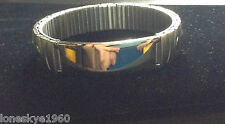 IMPORTED SILVER STAINLESS  UNISEX STRETCHED BRACELET