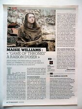 COUPURE DE PRESSE-CLIPPING : Maisie WILLIAMS  04/2016  Game of Thrones