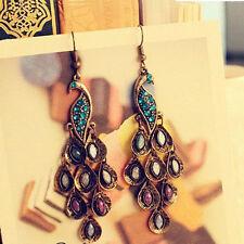 Charm Women Retro Bronze Peacock Multi Sequin Ear Studs Girls Earrings Eardrop